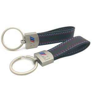 Porte clé BMW ///M en métal et cuir